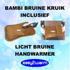 Advantage Package Bambi Brown Electric Hot Water Bag, together with our Brown Hand Warmer