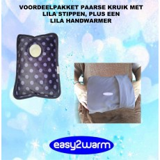 Advantage Package Luxury Purple Electric Hot Water Bag, Lilac Spotted, together with our Lilac Hand Warmer