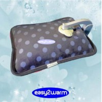 Luxury Rechargeable Electric Hot Water Bag – Purple - Lilac Spotted