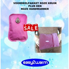 Advantage Package Pink Electric Hot Water Bag together with our Pink Hand Warmer